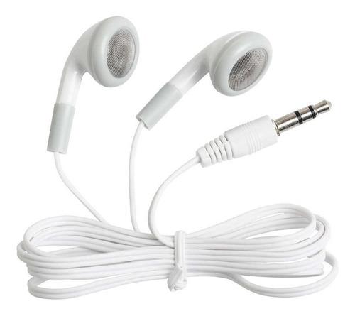 audifonos economicos blancos en bolsa nuevos 80cm 3.5mm plug