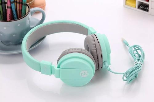 audifonos elmcoei ev90 high fidelity plegable verde pistacho