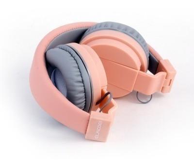 audifonos elmcoei ev90 high fidelity plegables rosa pastel