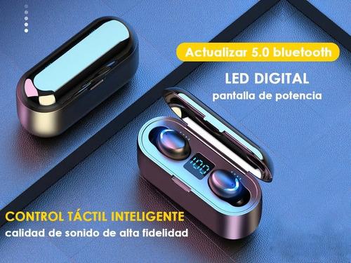 audífonos f9 led bluetooth 5.0 manos libres y control táctil