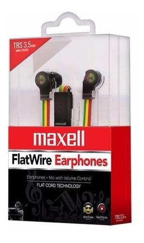 audifonos flatwire maxell rasta