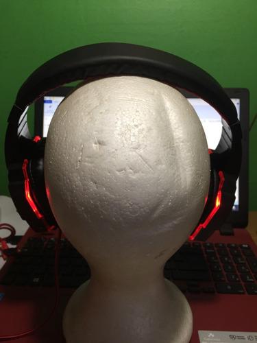audífonos gamer acekool pc780 micrófono led. pc, consolas