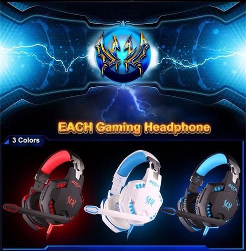 audifonos gamer kotion each g2100 con sistema de vibracion