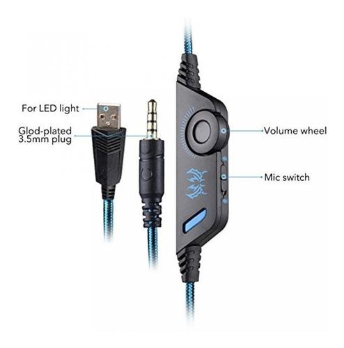 audifonos gamer kotion each g9000 / pc laptop ps4 smartphone