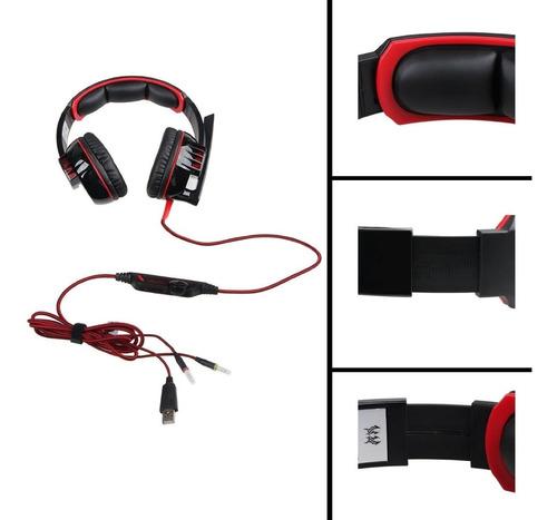 audifonos gamer kotion g6000 c/luces led, oferta!
