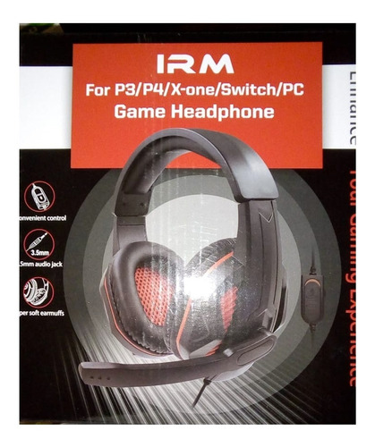 audifonos gamer mic pc mac 3.5mm control volumen