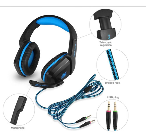 audifonos gamer microfono nintendo switch ps4 pc fortnite