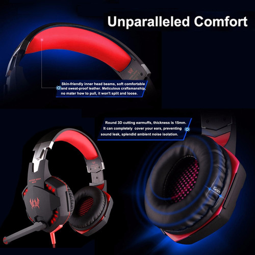 audifonos gamer para ps4 /pc c + sistema de vibracion remate