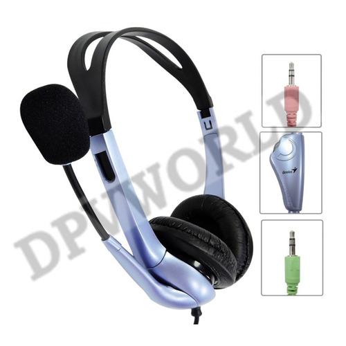 audifonos genius hs-04s alambrico pc con control de volumen