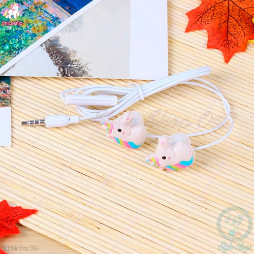 audifonos hands free con micrófono unicornio celulares