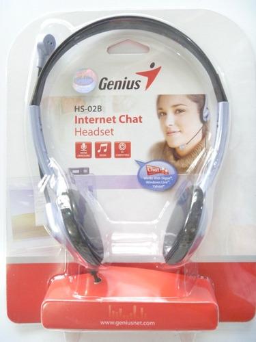 audifonos headset genius hs-02b