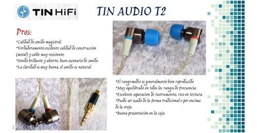 audífonos hifi tin audio t2 mmcx @ pruébalo sin compromiso