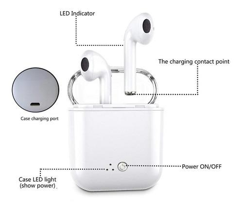 audifonos i7 mini tipo airpods bluetooth musica llamadas