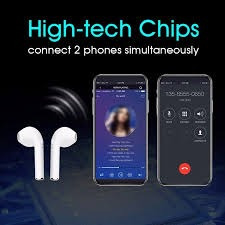 audífonos i7s tws bluetooth, estilo airpods. mundotek