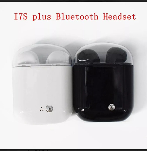 audífonos i7s tws bluetooth tipo airpods blanco y negro