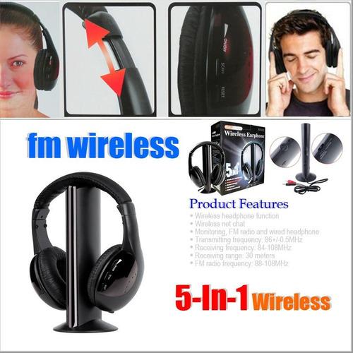 audifonos inalambricos 5 en 1 mp3 mp4 tv pc radio fm dvd ypt