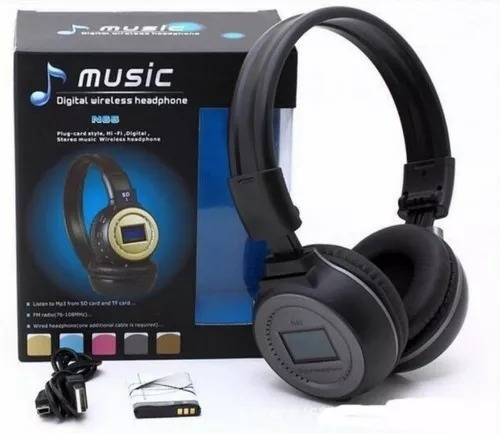 audífonos inalambricos bluetooth sd mp3 n65bt 12$