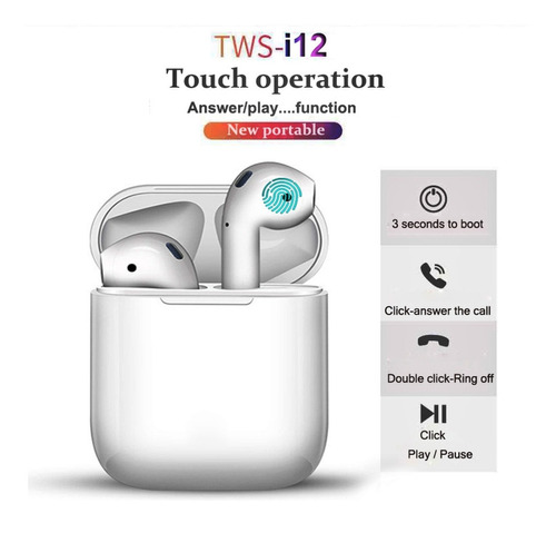 audifonos inalambricos i12 tws
