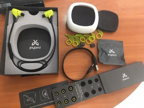 audifonos inalambricos jaybird x2 verde charge.