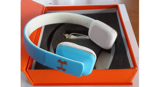 audífonos inalámbricos jbl under armour bluetooth azules
