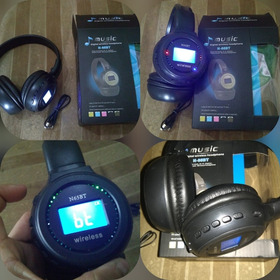 Audífonos Inalambricos Luz Led Conexion Bluetooth