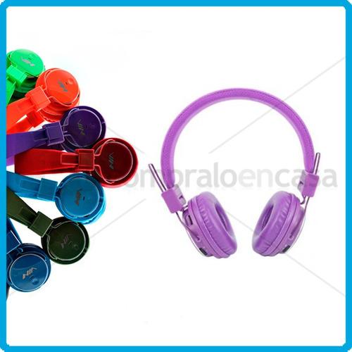 audífonos inalambricos recargables micro sd mp3 radio fm