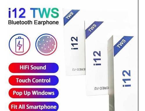 audifonos inalambricos tws i12 airpods 20 verds