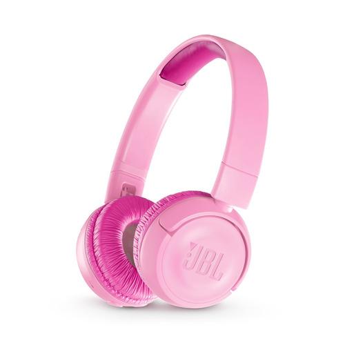 audífonos infantiles bluetooth jbl jr control volumen rosa
