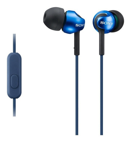 audífonos interno sony mdrex110ap con control remoto azul