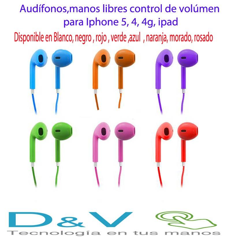ca5df0aaad7 Audífonos iPhone 5-5g,4-4s iPad,manos Libres,control Volumen ...