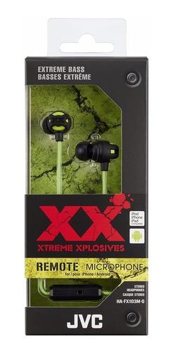 audifonos jvc xtreme xplosives ha-fx103mg originales 12 msi
