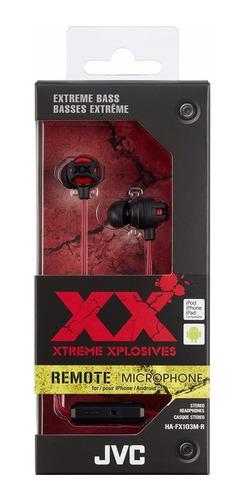 audifonos jvc xtreme xplosives ha-fx103mr originales 12 msi