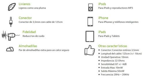audifonos klip 105 3.5mm ipod ipad celular tablet laptop pc