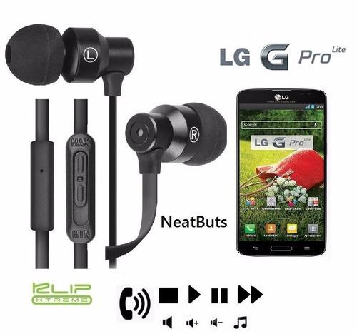 audifonos klip xtreme control total para lg g pro lite