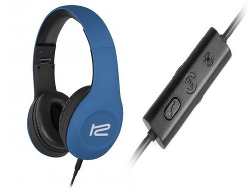 audifonos klip xtreme khs-815 frantic beats azul y elegante