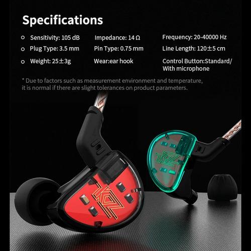 audífonos kz as10 originales 5ba monitor alta calidad microf