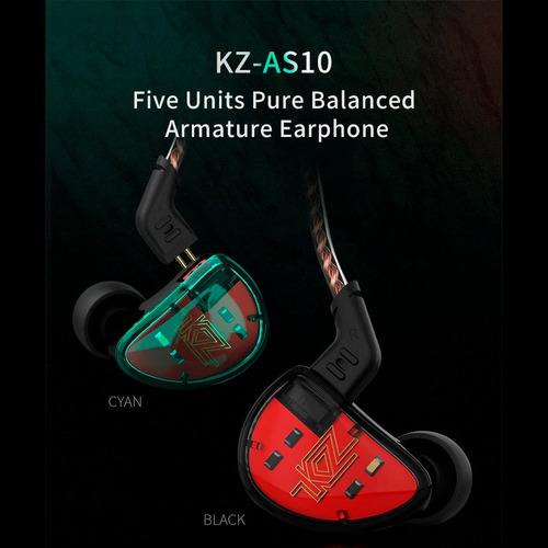audífonos kz as10 originales 5ba monitor alta fidelidad mic