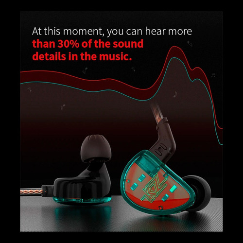 audífonos kz as10 originales monitor alta calidad microfono