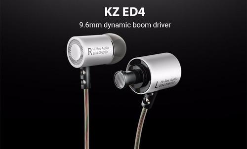 audífonos kz ed4 alta fidelidad mega bass con micrófono