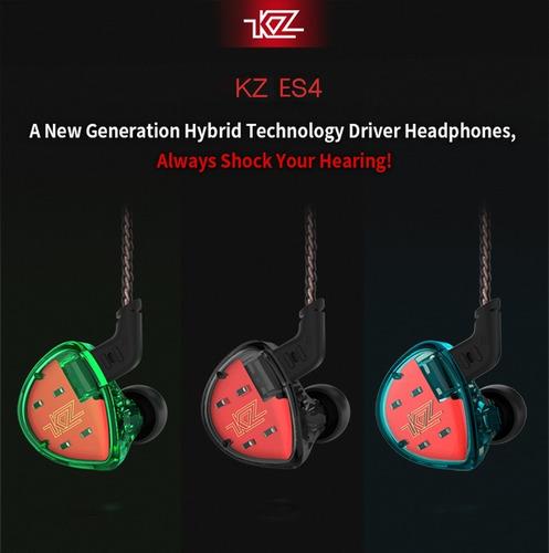 audifonos kz es4 con micrófono 4 drivers envío inmediato