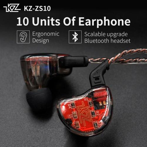 audifonos kz zs10 + cable plata + módulo bluetooth + estuche