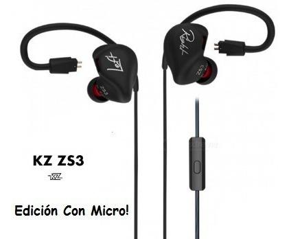 audífonos kz zs3 con micrófono í