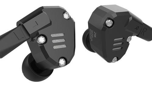audífonos kz zs6 con micrófono hibridos 8 bocinas