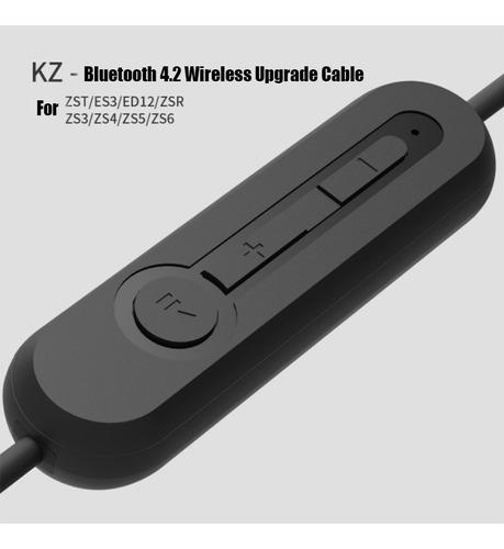 audífonos kz zs6 microfono hifi + bluetooth + cable plata
