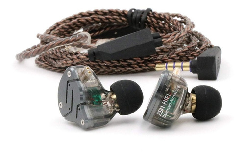 audífonos kz zsn 2 drivers híbridos gaming músicos micrófono