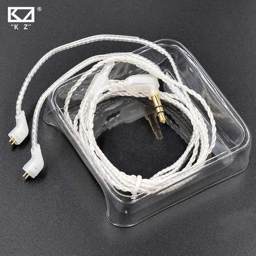 audifonos kz zst + cable en plata + espumas en memory x3