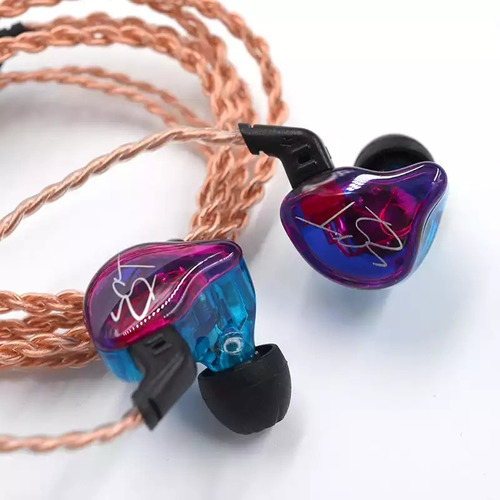 audífonos kz zst pro + cable plateado+ estuche+ espumas t400