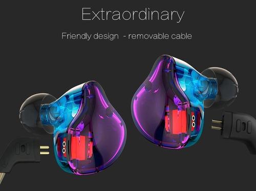 audifonos kz zst pro sin micrófono dual driver bajos hifi