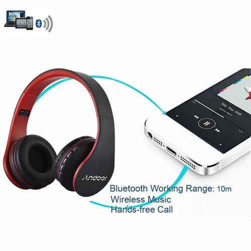 audifonos lh-811 estéreo bluetooth kit 4 en 1 multifunción