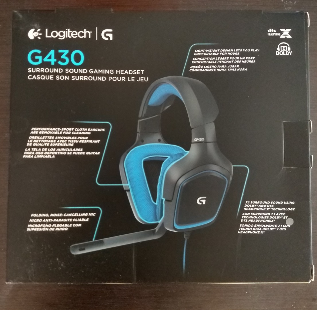 Logitech G430 7 1 DTS Headphone: X and Dolby Surround Sound Gaming